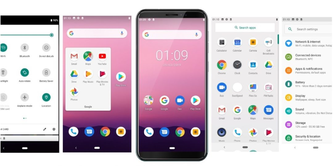 Cubot J5 чистый Android 9.0