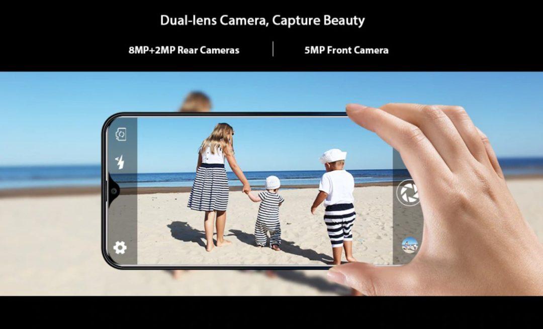 Oukitel C15 Pro Plus - основная камера 8+2 МП, фронтальная камера 5 МП
