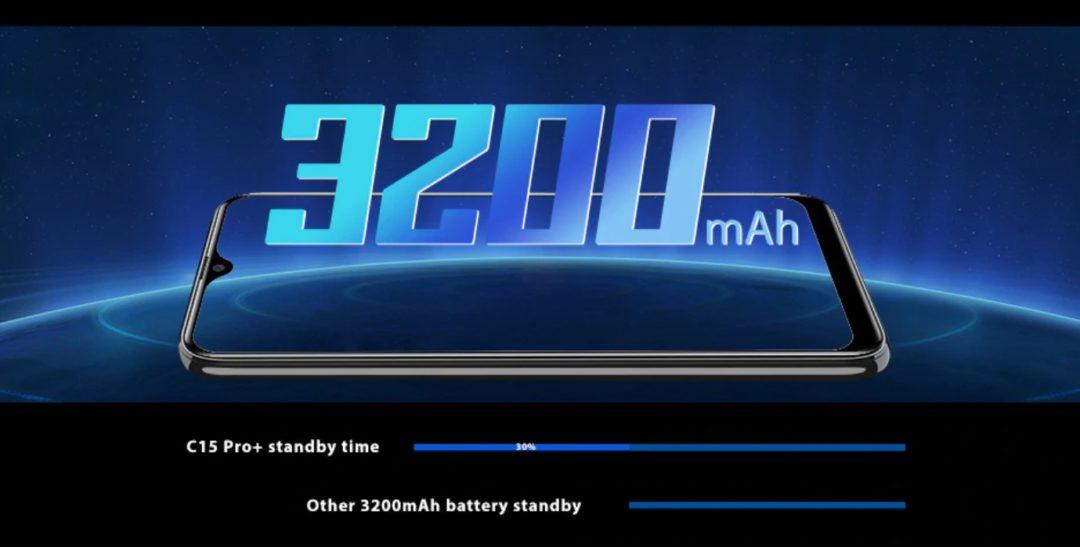 Oukitel C15 Pro Plus - большая батарейка на 3200 мАч